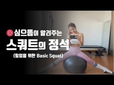 [애플힙 스쿼트] 스쿼트의 정석(힙업을 위한 basic squat)