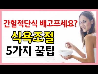 [간헐적단식] 배 안 고프게 하는 5가지 방법! 꿀팁- 다이어트 하기