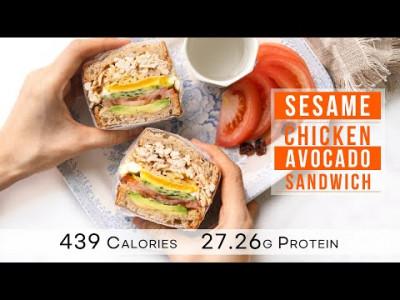 다이어트 샌드위치, 참깨 치킨 아보카도 샌드위치 만들기  : 439 Calories, sesame chick…
